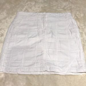 Ann Taylor Loft White Cotton Lined Skirt Size 0